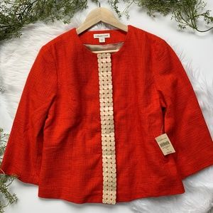 Coldwater Creek I Red Jacket W/ Shell Detail